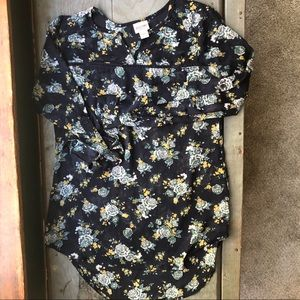 Mossimo Supply Co floral blouse XS